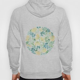 Yellow and Blue Floral Circle Hoody