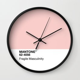 MANTONE® Fragile Masculinity Wall Clock