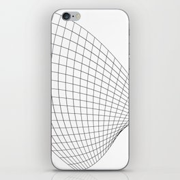 Abstract wireframed waving surface iPhone Skin
