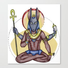 Anubis&Vishnu Canvas Print