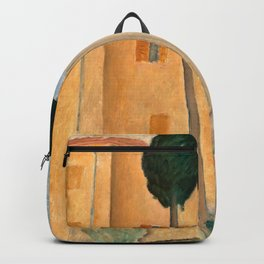 """Amedeo Modigliani """"Cypresses and Houses at Cagnes (Cyprès et maisons à Cagnes)"""" Backpack"""