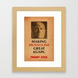 Trump Makings 2. Framed Art Print
