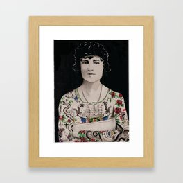The Amazing Tattooed Lady Framed Art Print