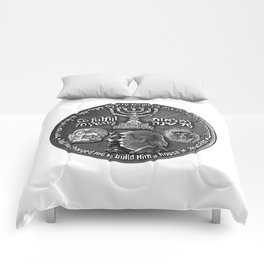 Trump Israel 70th Anniversary Temple Coin Art (Front Side) Comforters