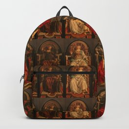 """Sandro Botticelli and Piero del Pollaiolo """"Theological and cardinal virtues"""" Backpack"""