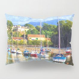 Boats in Harbour, Caernarvon Pillow Sham