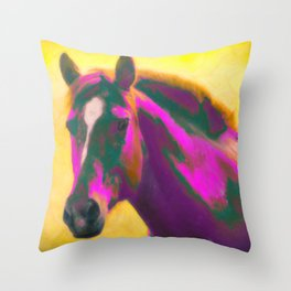 Horse, Wild Throw Pillow