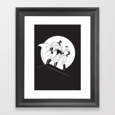 The Night is Dark Framed Art Print