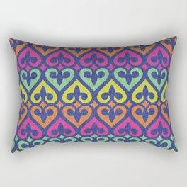Fleur De lis & Hearts Rectangular Pillow