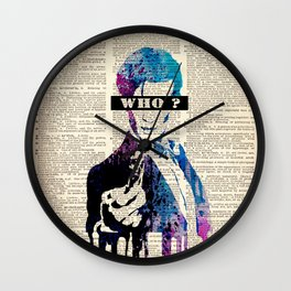 Doctor Who on dictionary #3 Wall Clock