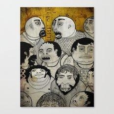 Los cara de galleta Canvas Print