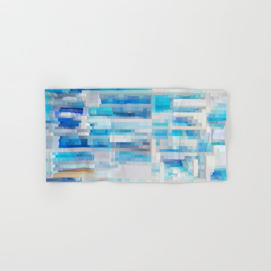 Abstract blue pattern 2 Hand & Bath Towel