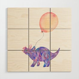 Tie-dye Triceratops Wood Wall Art