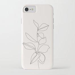 Botanical illustration line drawing - Birdie I iPhone Case