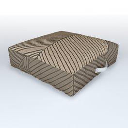 Minimal Tropical Leaves Pastel Beige Outdoor Floor Cushion