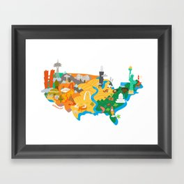 America Framed Art Print