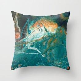 Turbulent Sea #1 Throw Pillow