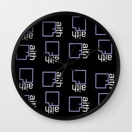 By Faith (purple) Wall Clock
