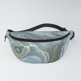 Precious Teal Blue Gemstone Agate Collage Fanny Pack