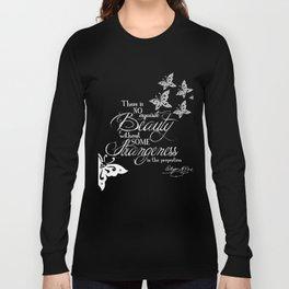 Strange Skullerflies - EA Poe Quote Long Sleeve T-shirt