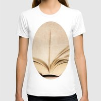 kindle T-shirts featuring Silent Reading II by Rose Etiennette