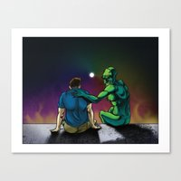 inner demons Canvas Prints featuring Inner Demons by Leroy Kucia