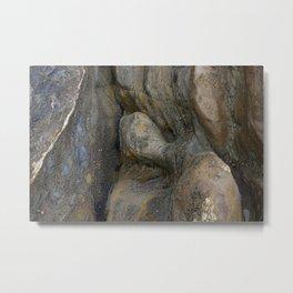 Ocean Weathered Coastal Rock Formation Metal Print