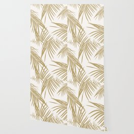Gold Palm Leaves Dream #1 #tropical #decor #art #society6 Wallpaper