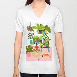Love Plants Unisex V-Neck