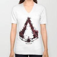 saga V-neck T-shirts featuring Assassin's Creed Saga by s2lart