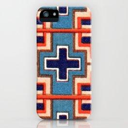 Vintage Cross French Moyen Decorative Design iPhone Case