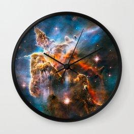 Carina Nebula, Galaxy Background, Universe Large Print, Space Wall Art Decor, Deep Space Poster Wall Clock