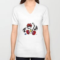 kit king V-neck T-shirts featuring Hockey kit by Kana Aiysoublood
