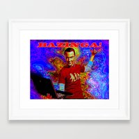 bazinga Framed Art Prints featuring Bazinga Sheldon! by JT Digital Art
