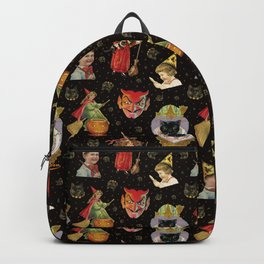 Vintage Halloween Party in Black Cat + Gold Celestial Backpack