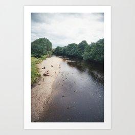 Along the river... Art Print