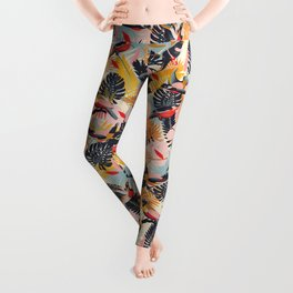 Paradise Birds II. / Small Scale Pattern Leggings