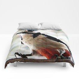 visit in winter Comforters