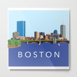 Back Bay Boston Skyline Metal Print