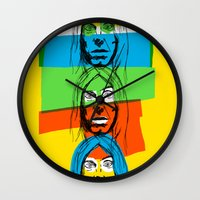 iggy Wall Clocks featuring Iggy by Mohac