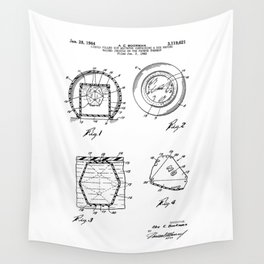 Magic Eight-Ball Patent Wall Tapestry