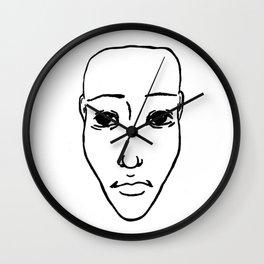Portrait N&B Wall Clock