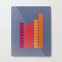 Orange Towers Metal Print