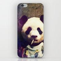 tyler durden iPhone & iPod Skins featuring Panda Durden by rubbishmonkey