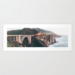 Bixby Bridge Big Sur Landscape Art Print