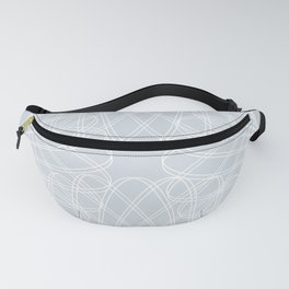 mathematical rotating roses - ice gray Fanny Pack