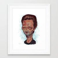 christopher walken Framed Art Prints featuring Christopher Walken by Nicolas Villeminot