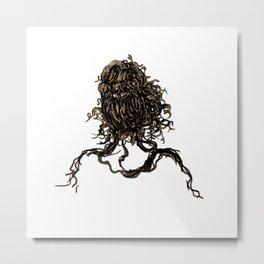 Messy dry curly hair 1 Metal Print