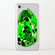 GEMS - green , expensive look , luxury and shine Clear iPhone Case