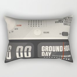 Groundhog Day, Bill Murray, minimalist movie poster, Andie MacDowell, Harold Ramis Rectangular Pillow